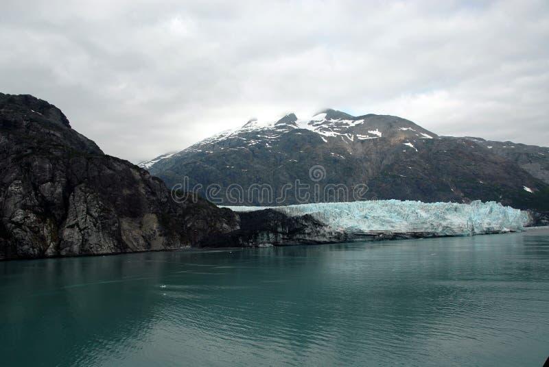 阿拉斯加海湾冰川margerie 库存照片