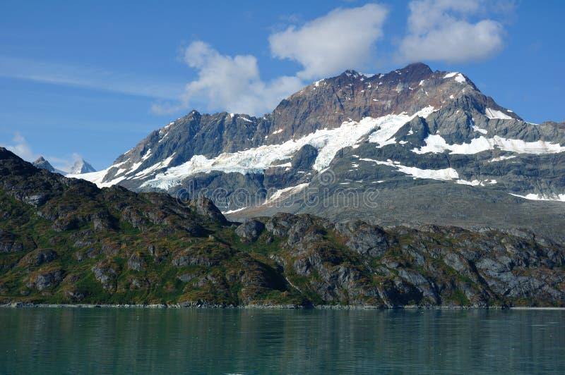 阿拉斯加海湾铜冰川挂接国家公园 免版税库存图片