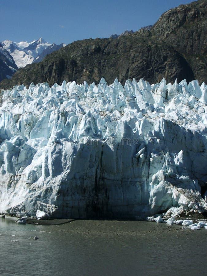 阿拉斯加特写镜头冰川margerie 库存照片