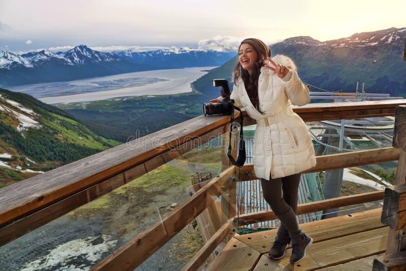 阿拉斯加的山 免版税图库摄影