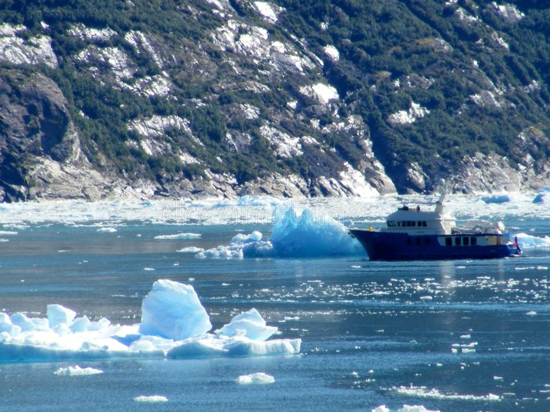 阿拉斯加的捕鱼船-特雷西胳膊海湾 库存图片