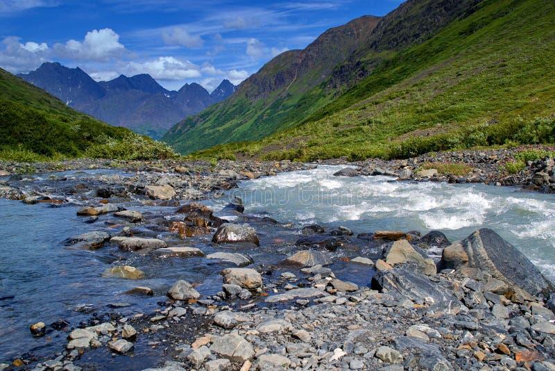 阿拉斯加的横向 免版税库存照片