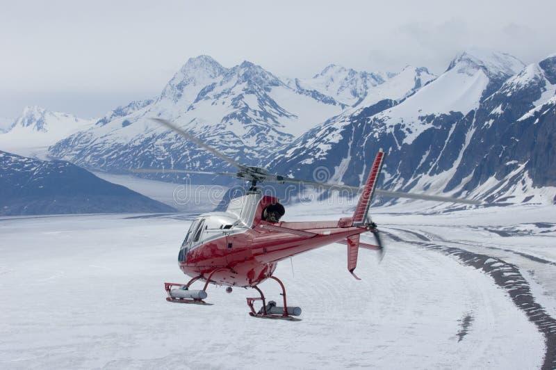阿拉斯加的直升机系列 库存图片