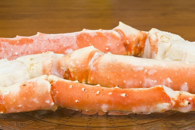 阿拉斯加的螃蟹国王行程满盘 免版税库存照片