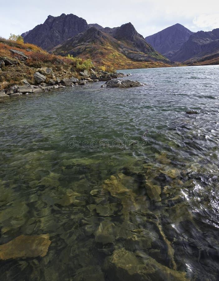 阿拉斯加的Country湖 免版税库存照片