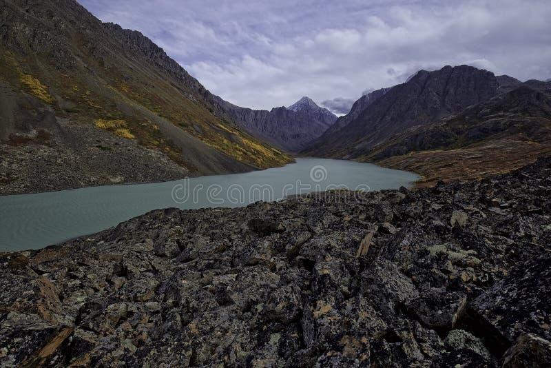 阿拉斯加的Country湖 库存照片