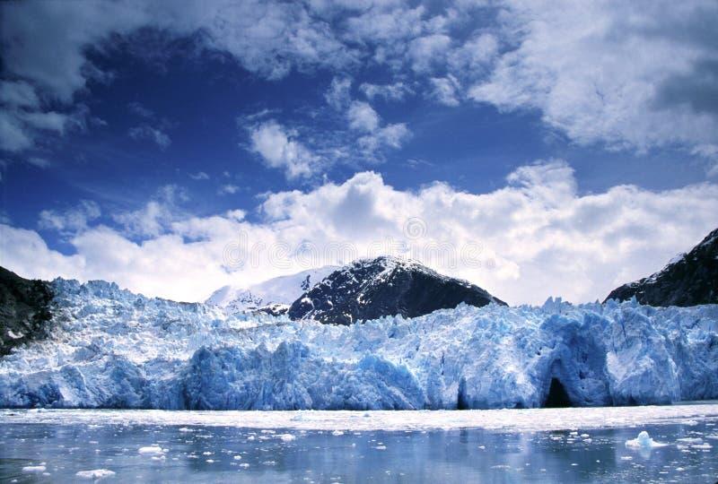 阿拉斯加胳膊海湾冰川tracy 免版税库存照片