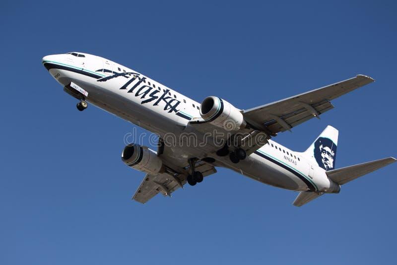 阿拉斯加航空公司波音737-490 免版税库存图片