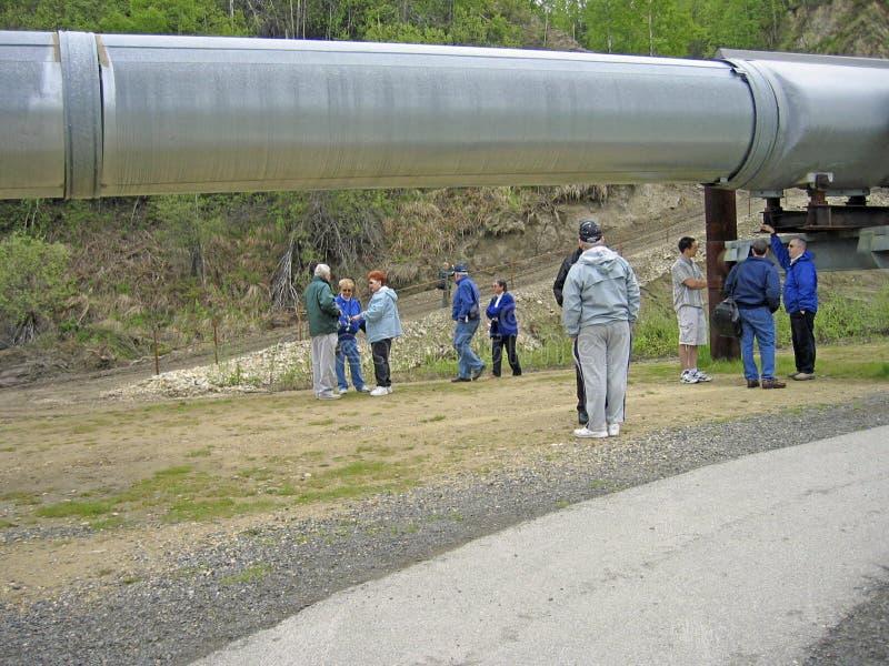 阿拉斯加输油管 库存图片