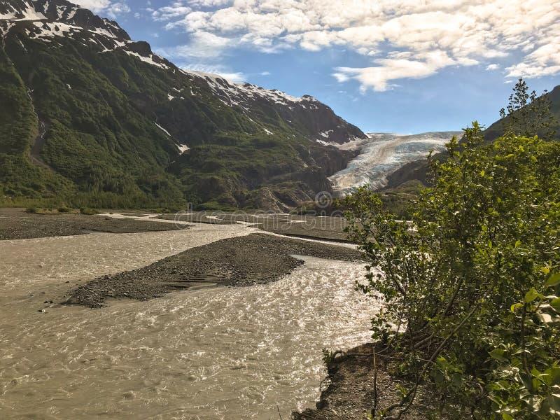 阿拉斯加退出冰川 图库摄影