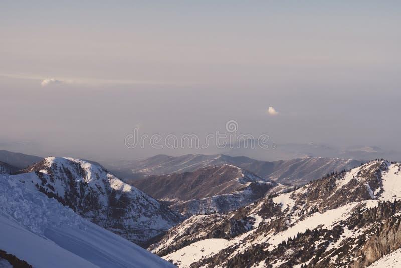 阿拉木图看法从天山山的 图库摄影