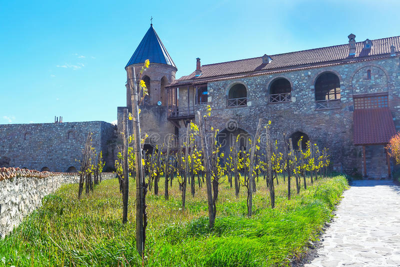 阿拉韦尔迪正统修道院在Kakhetia地区在东乔治亚 库存图片