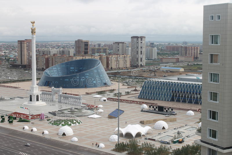 阿斯塔纳是心脏哈萨克斯坦 图库摄影