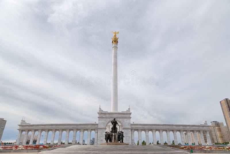 阿斯塔纳,哈萨克斯坦- 2016年9月3日:哈萨克斯坦` s区域  库存照片