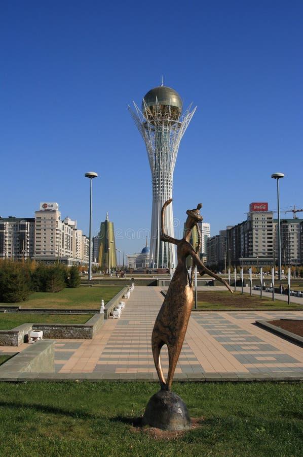 阿斯塔纳bayterek卡扎克斯坦符号 免版税库存图片