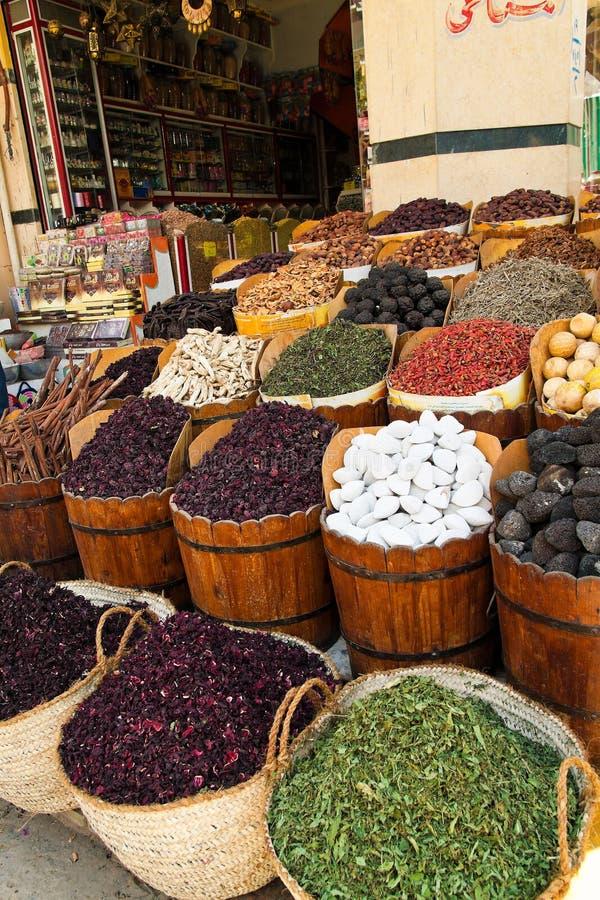 阿斯旺义卖市场埃及 免版税库存图片