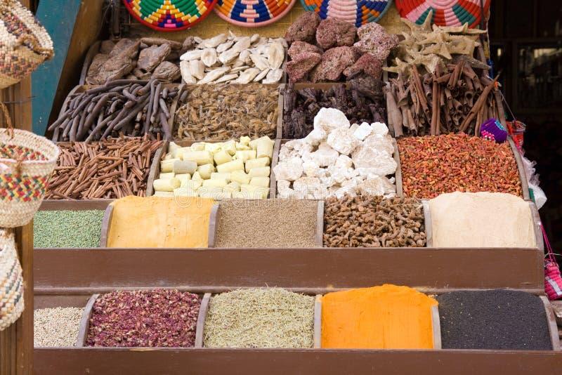 阿斯旺埃及市场 库存图片