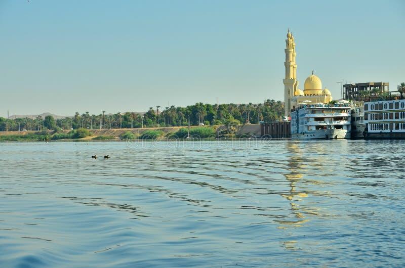 阿斯旺埃及河沿 免版税图库摄影