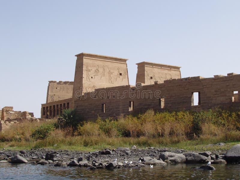 阿斯旺埃及philae寺庙 免版税库存图片