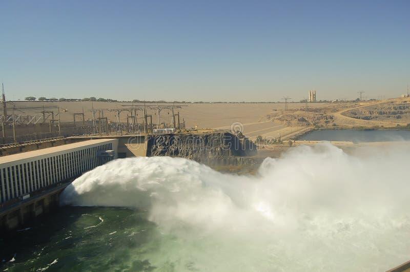 阿斯旺水坝-阿斯旺-埃及 库存图片