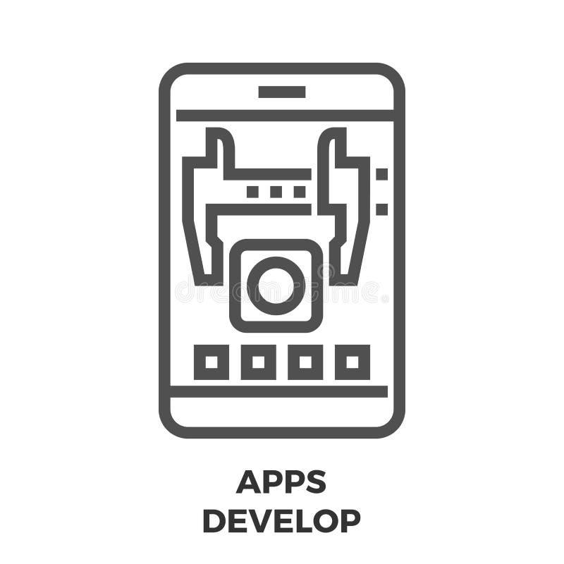 阿普斯开发线象 库存例证