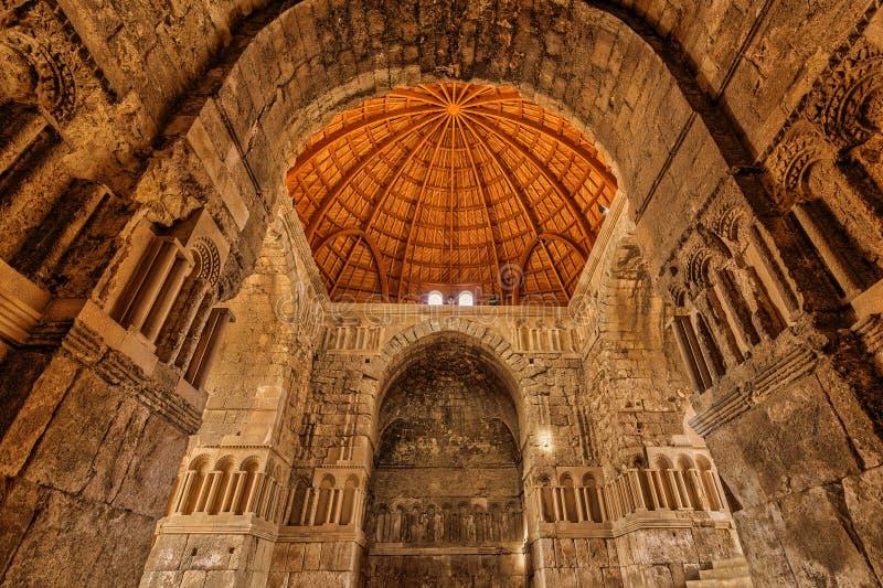 阿曼城堡的Umayyad宫殿,约旦 免版税库存照片