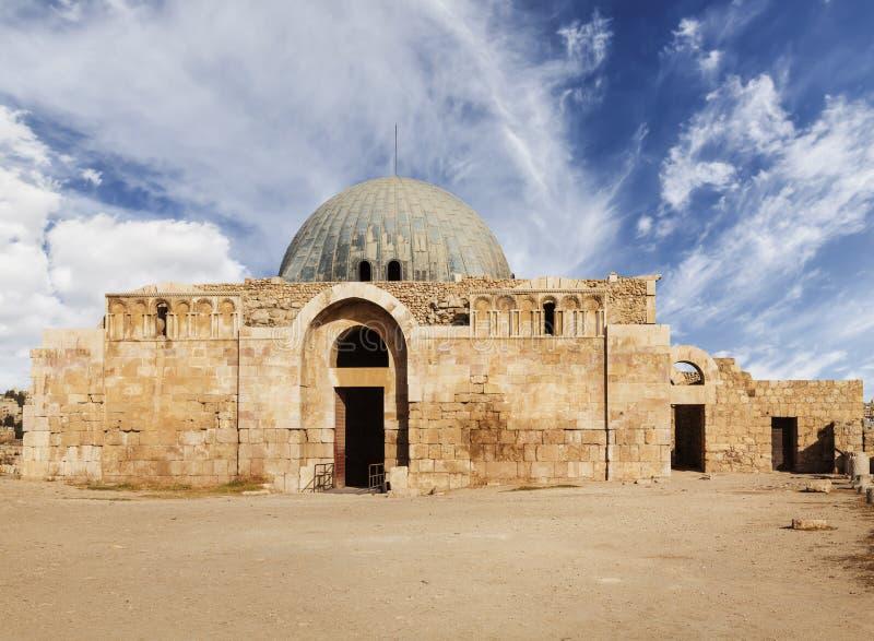 阿曼城堡的Umayyad宫殿 城堡是一个全国古迹和考古学博物馆在街市的中心 免版税库存照片