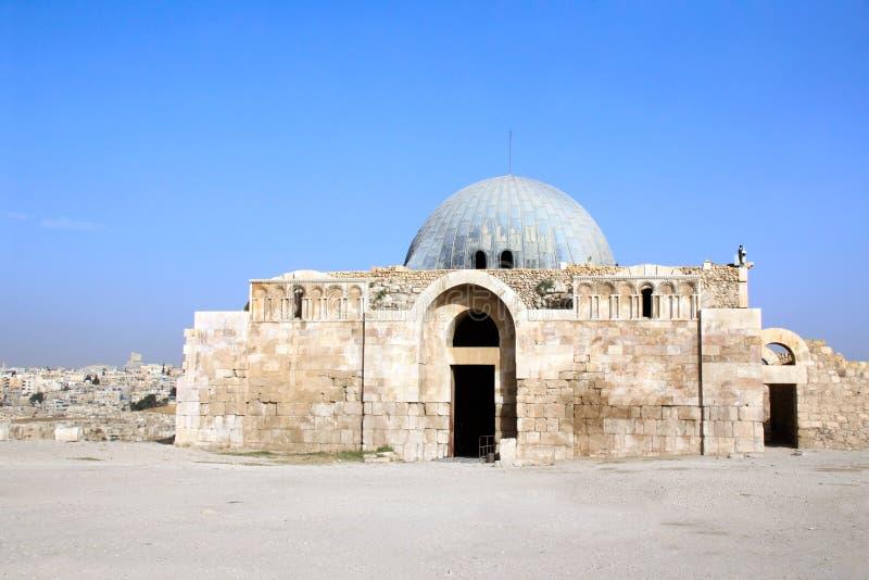 阿曼城堡,阿曼,约旦倭马亚宫殿  免版税图库摄影