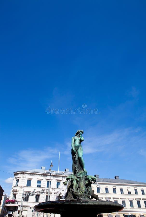 阿曼达・芬兰havis赫尔辛基雕象 库存照片