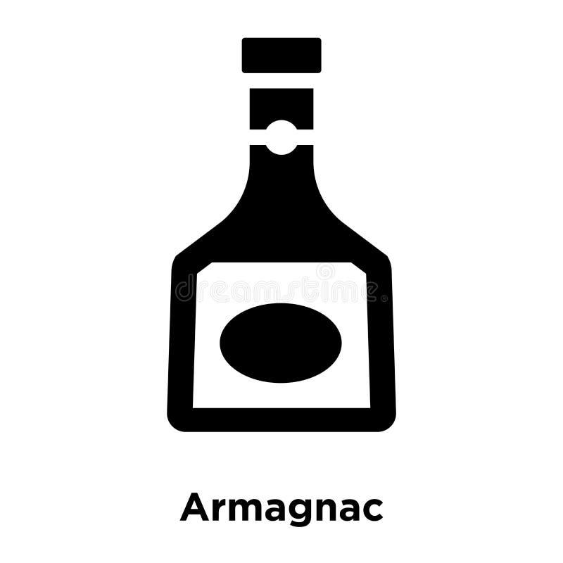 阿曼那白兰地在白色背景隔绝的象传染媒介,商标概念 向量例证