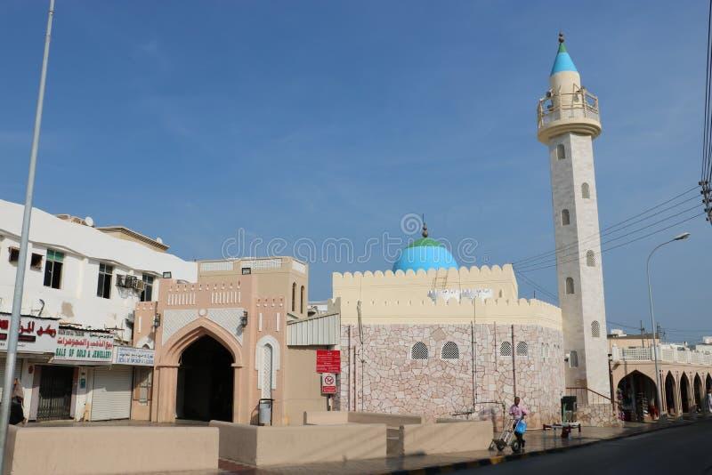 阿曼马斯喀特穆特拉苏克清真寺 免版税图库摄影