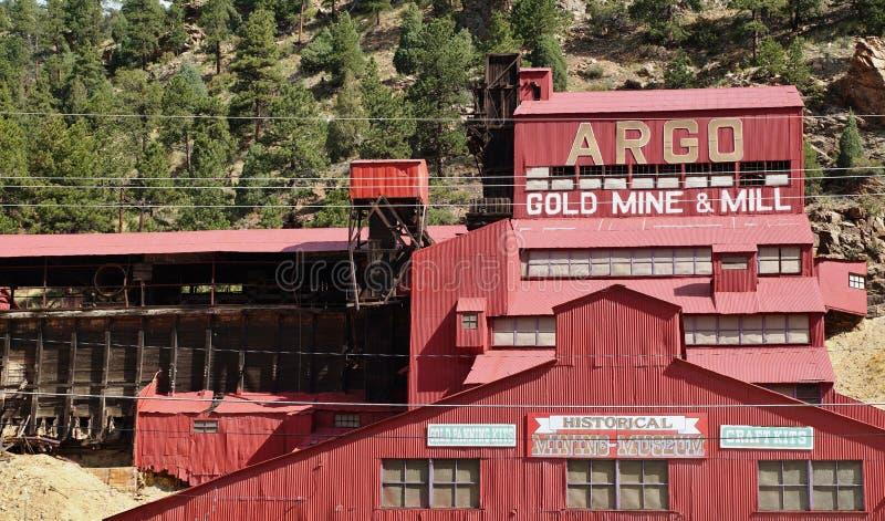阿果金矿和磨房在科罗拉多 免版税库存照片