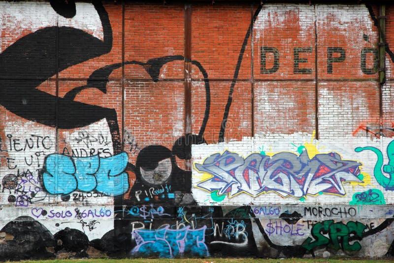 阿根廷五颜六色的街道画罗萨里奥 免版税库存图片