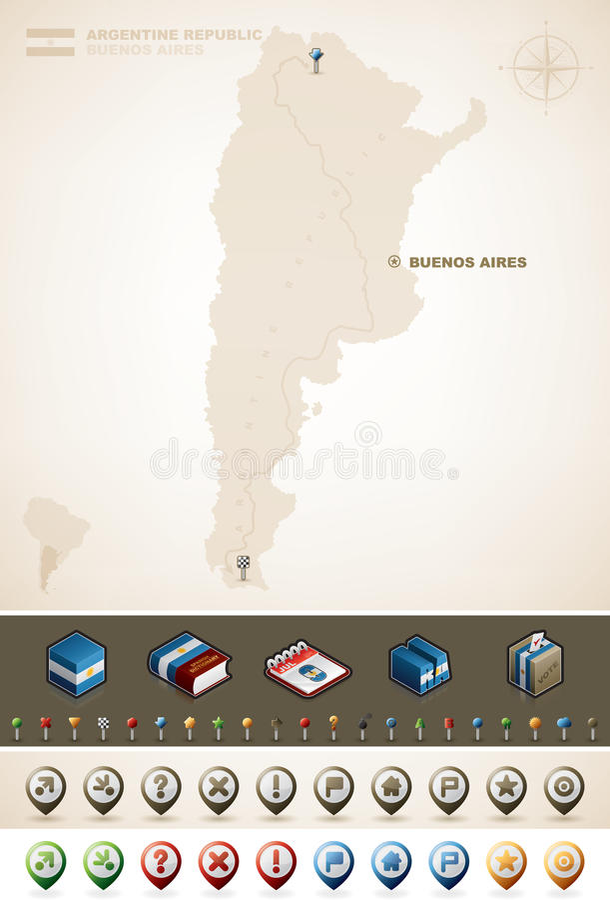 阿根廷共和国 库存图片