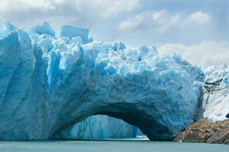 阿根廷冰川莫尔诺perito视图 库存照片
