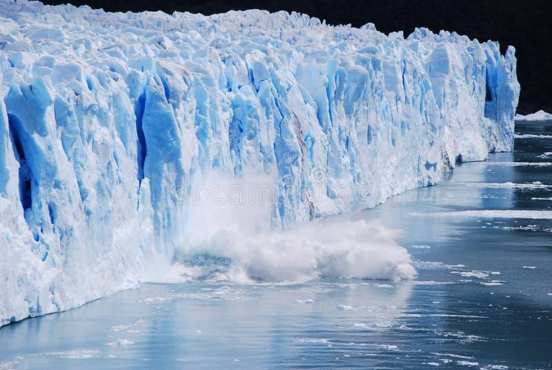 阿根廷冰川莫尔诺perito 库存照片