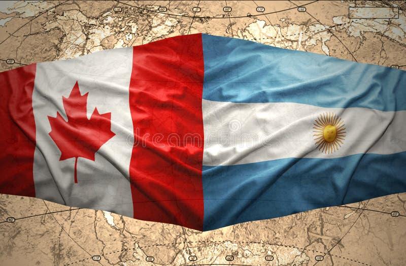 阿根廷和加拿大 向量例证