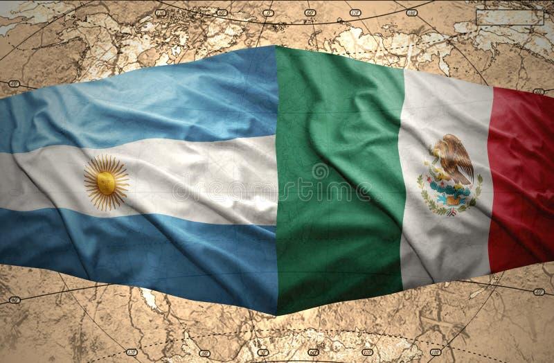 阿根廷和墨西哥 皇族释放例证