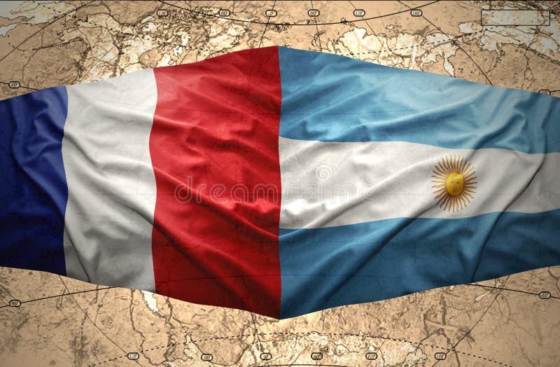 阿根廷和法国 向量例证