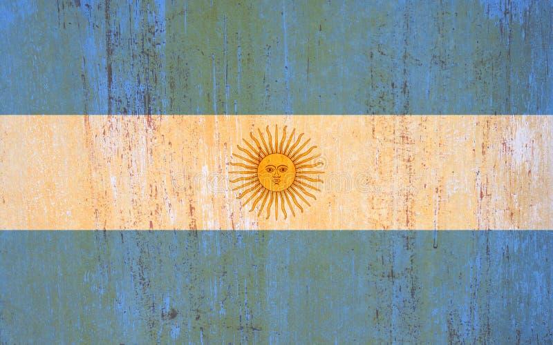 阿根廷在葡萄酒样式的旗子背景 皇族释放例证