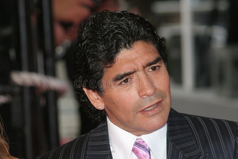 阿根廷地亚哥橄榄球说明maradona 库存图片