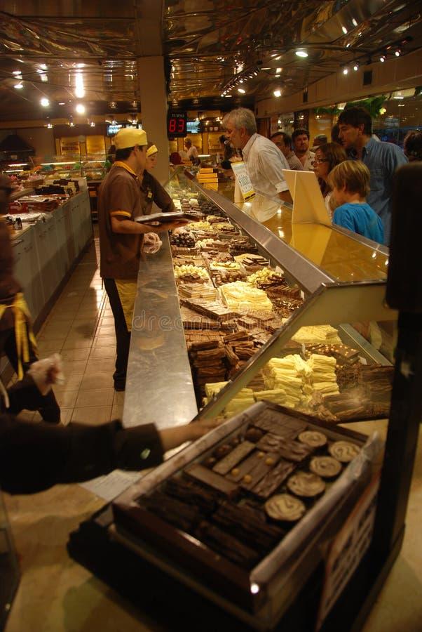 阿根廷巧克力存储 免版税库存照片