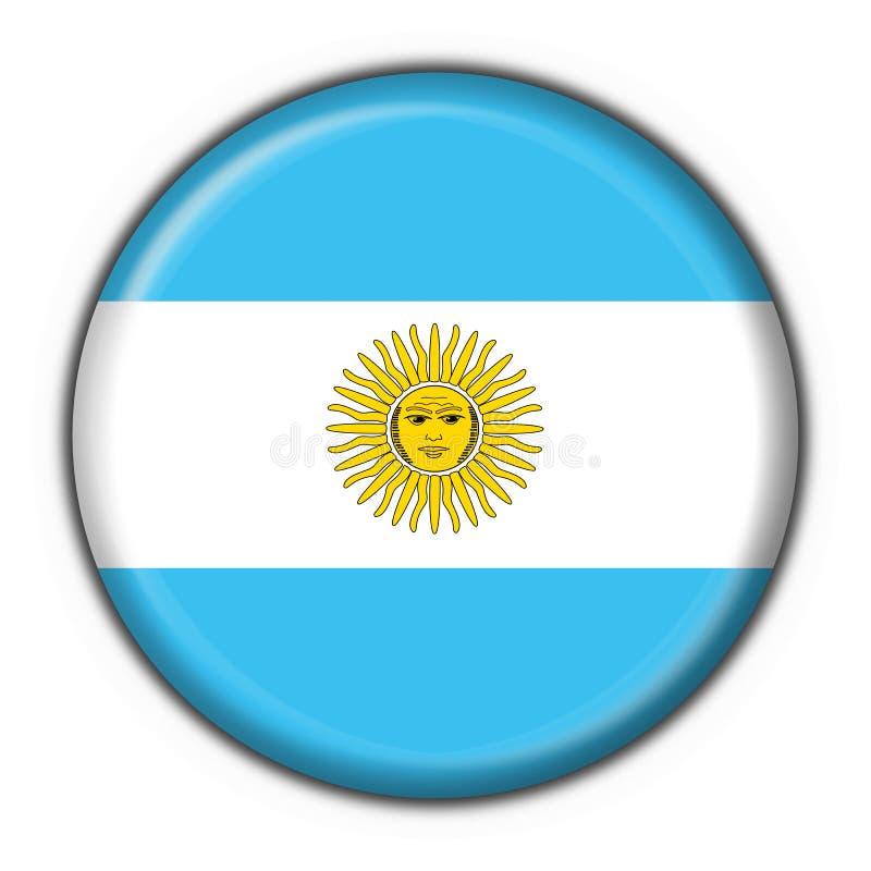 阿根廷按钮标志 库存例证