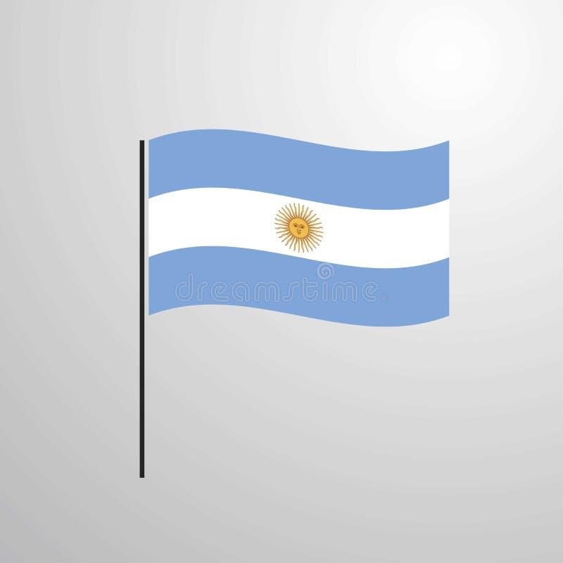 阿根廷挥动的旗子 向量例证