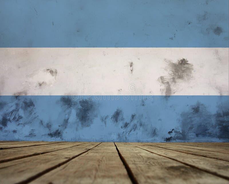 阿根廷旗子纹理 向量例证