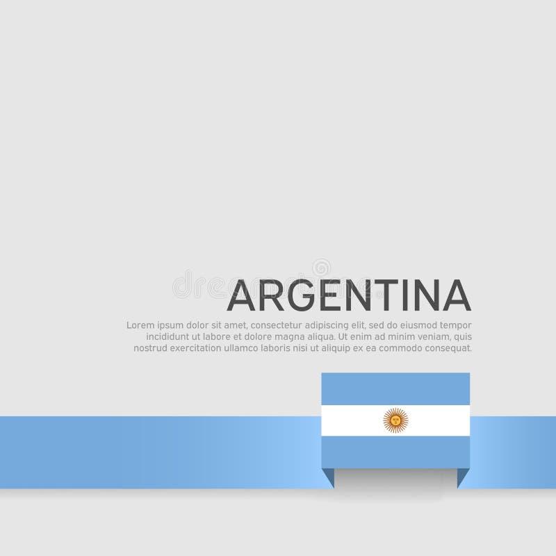 阿根廷旗子背景 全国海报 丝带阿根廷在白色背景的旗子颜色 传染媒介平的横幅设计 ?? 向量例证