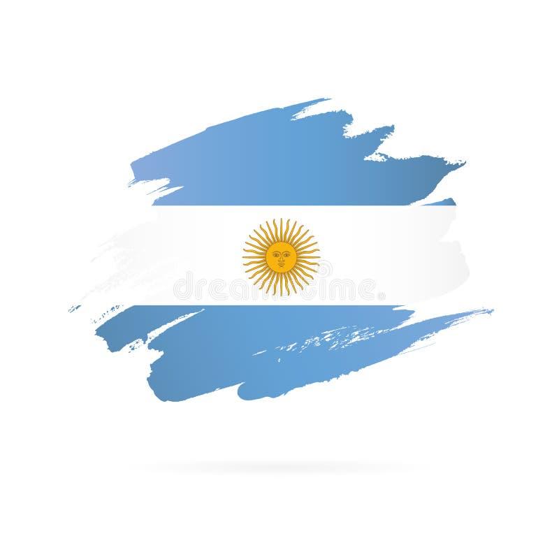 阿根廷旗子 r 皇族释放例证