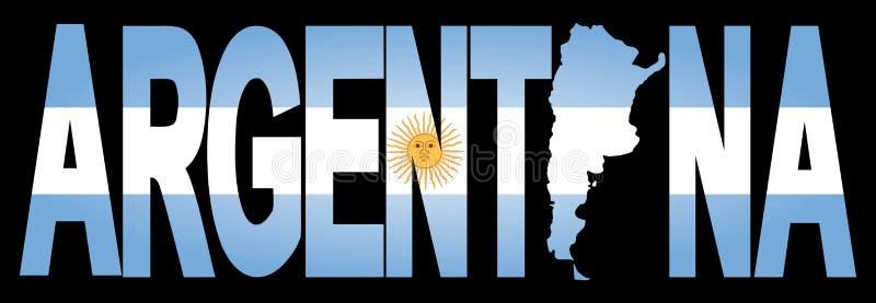 阿根廷映射文本 向量例证