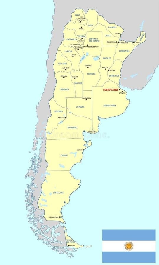 阿根廷映射 库存例证