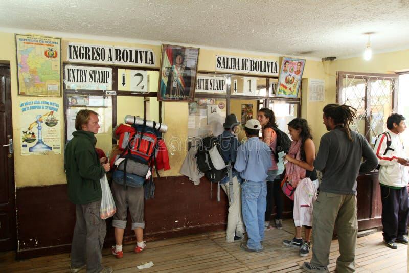 阿根廷玻利维亚人边界 库存照片